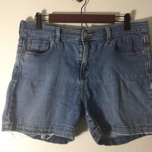 Levis 515 Womens Shorts Size 14 Distressed Light W